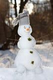 Kleiner netter Schneemann Stockfotos