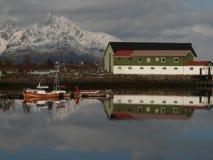 Kleiner norwegischer Schacht Stockfotografie