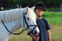 Kleiner Pferdenmitfahrer Stockfotografie