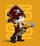 Kleiner Pirat. lizenzfreie abbildung