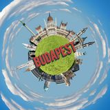 Kleiner Planet Budapests stockfotos