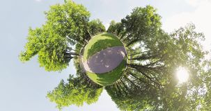 Kleiner Planetenparkblick stock video