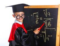 Kleiner Professorjunge lizenzfreies stockfoto