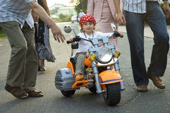 Kleiner Radfahrer Stockfoto