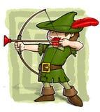 Kleiner Robin Hood. stock abbildung