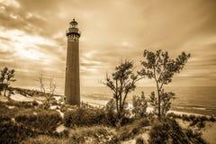 Kleiner Sable-Punkt-Leuchtturm Lizenzfreies Stockfoto