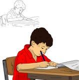 Kleiner Schüler Stockfoto