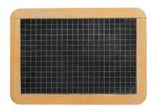 Kleiner Schultafelschiefer angeordnet mit Quadraten lizenzfreies stockbild