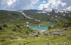 Kleiner See in der Natur Norwegen nahe gamle strynefjellsveg Stockfotografie