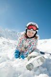 Kleiner Skifahrer Lizenzfreie Stockfotos