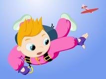 Kleiner Skydiver Stockfoto