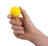 Kleiner Spielzeugball lokalisiert stockfoto