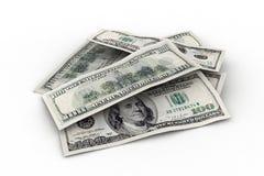 Kleiner Stapel von uns doolars Lizenzfreies Stockbild