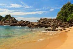 Kleiner Strand Ferradurinha-Meerroc, Buzios, Rio de Janeiro, Brasilien Stockbild