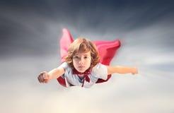 Kleiner Superheld Stockbild