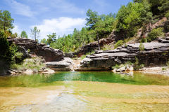 Kleiner Teich des Wassers Stockfoto