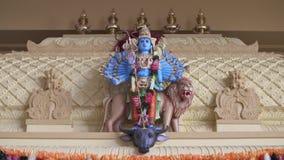 Kleiner Vishnu Statue On Mantel stock footage
