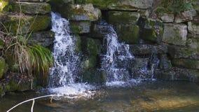 Kleiner Wasserfall, im See in Foerch, im Liebling Schloss des allgemeinen Parks stockfotografie