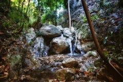 Kleiner Wasserfall im Strom lizenzfreie stockfotografie