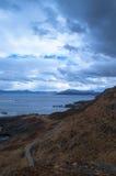 Kleiner Weg zum Meer Stockfoto