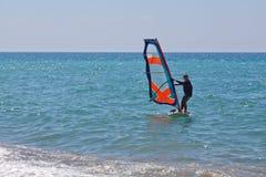 Kleiner Windsurfer Stockfotografie