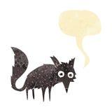 kleiner Wolf der lustigen Karikatur mit Spracheblase Stockfoto