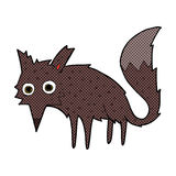 kleiner Wolf der lustigen komischen Karikatur Lizenzfreie Stockbilder