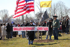 Kleinere Regierung, niedrigere Steuern Lizenzfreies Stockfoto