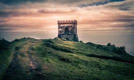 Kleines altes Schloss stockfoto