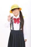 Kleines asiatisches Schulmädchen Lizenzfreies Stockfoto