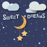 Kleines Babyplakat der süßen Träume Lizenzfreie Stockfotos