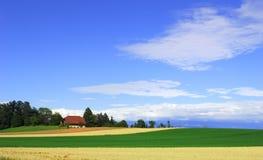 Kleines Bauernhofhaus Stockfotografie