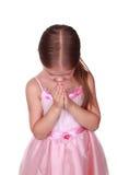 Kleines betendes Mädchen Lizenzfreie Stockbilder