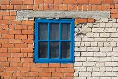 Kleines blaues Fenster Lizenzfreie Stockfotos