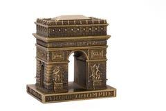 Kleines Bronzeexemplar von Lichtbogen d'Tri stockbild