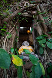 Kleines Buddha-Bild in einem alten Tempel in Thailand Lizenzfreie Stockfotografie
