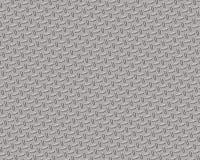 Kleines Chrom der Diamantplatte Stockbild