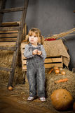 Kleines Cowboymädchen Lizenzfreies Stockbild