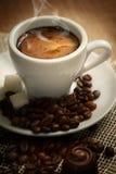 Kleines Cup starker Kaffee Stockbild