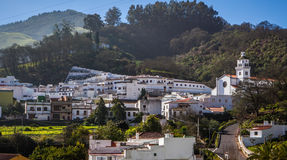 Kleines Dorf Stockfoto