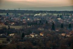 Kleines Dorf stockfotografie