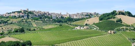 Kleines Dorf Acquaviva Picena auf Marken Lizenzfreie Stockfotografie