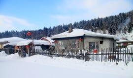 Kleines Dorf in der Nordchina Lizenzfreies Stockfoto