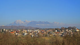 Kleines Dorf fast Ljubljana, Slowenien Stockbilder