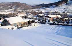 Kleines Dorf im Porzellan Lizenzfreie Stockfotos