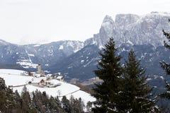 Kleines Dorf in Renon Lizenzfreie Stockfotos