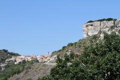 Kleines Dorf in Sardinien Lizenzfreie Stockbilder