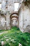 Kleines Dorf von den römischen Zeiten, Italien stockfoto