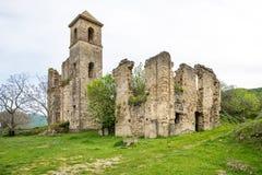 Kleines Dorf von den römischen Zeiten, Italien lizenzfreies stockfoto
