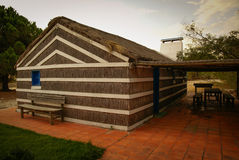 Kleines Dorfhaus des Strohs, Portugal Stockbilder